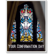 Confirmation Stained Glass Window Small Card