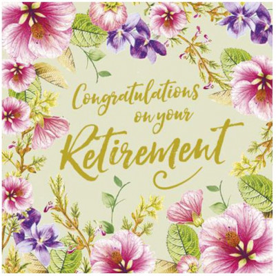 Congratulations On Your Retirement Greetings Card