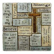 Ceramic Wall Cross Plaque