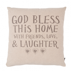 Cushion God Bless This Home With Love & Laughter