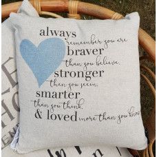 Cushion Always Remember Blue Heart