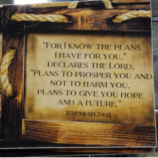 I Know The Plans Mini Hanging Plaque