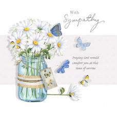 Sympathy Card Daisies