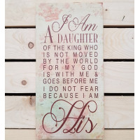 Daughter Of The King Canvas Plaque Rectangular