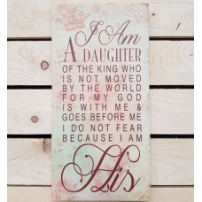 Daughter Of The King Canvas Plaque Script