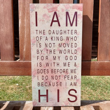Daughter of the King Wooden Plaque 30 x 15cm