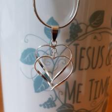 Linked Open Hearts Pendant