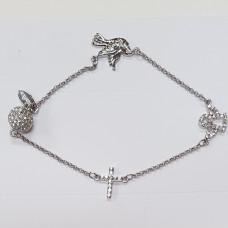 Dove Cross Angel Stainless Steel Bracelet