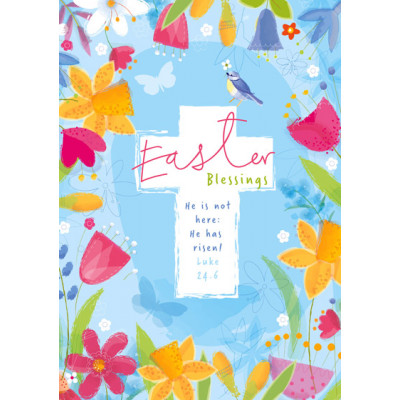 Easter Blessings Bold Floral Pack Of 5 Cards