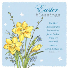 Easter Cards Pack Of 5 Spring Flowers