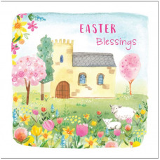 Compassion Charity Easter Cards - Church/Flowers (Pack of 8)