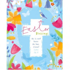 Easter Blessings Colourful Floral Card