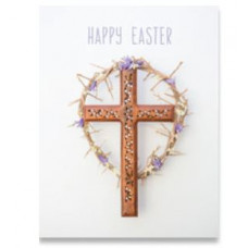 Easter Cards Pack Of 4 Cross & Wreath