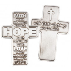 Faith Hope Love Metal Cross