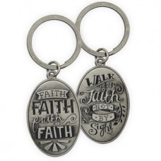 Pewter Keyring Faith