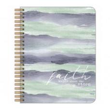 Faith Walks Above The Storm Medium Wirebound Journal