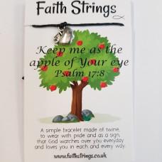 Faith Strings Bracelet - Apple Of Your Eye
