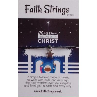 Faith Strings Bracelet - Christmas Begins