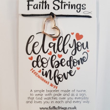 Faith Strings Bracelet Let All You Do
