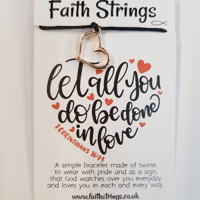 Faith Strings Bracelet Let All You Do