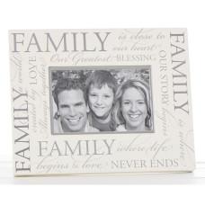 Cream Family Photo Frame