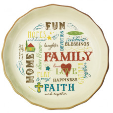 Family Blessings Fluted Dish