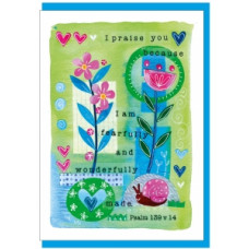 Fearfully And Wonderfully Made Greetings Card