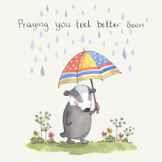 Feel Better Soon Badger Card