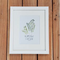 Be Still Fern A5 Framed Print
