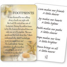 Footprints Poem Prayer Card