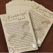 Footprints Poem Pocket Prayer Card