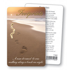Footprints Pocket Prayer Card