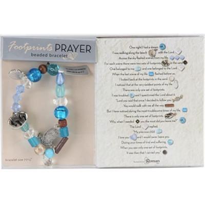 Footprints Prayer Beaded Bracelet
