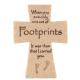 Footprints Poem Ceramic Cross