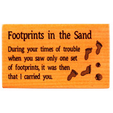 Wooden Magnet Footprints