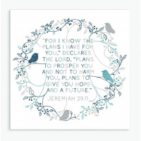 For I Know The Plans Birds Square Card