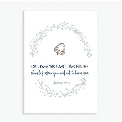 I Know The Plans Calm Range Greetings Card