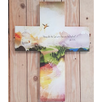 Cross Shaped Canvas Freedom