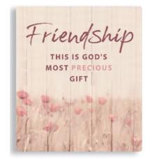 Friendship Porcelain Plaque
