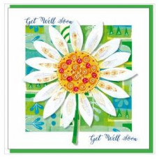 Get Well Soon Card Daisy (With Verse)