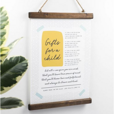 Gifts For A Child Nursery Print