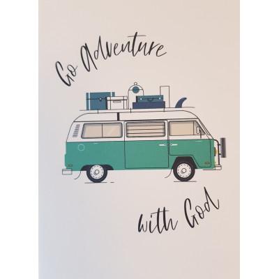 Go Adventure With God Teal Card