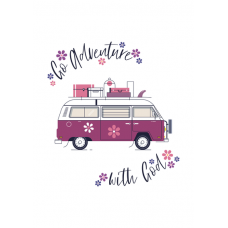 Mini Card: Go Adventure Flowers