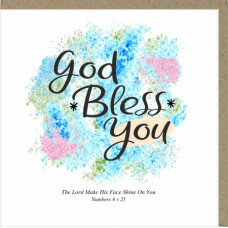 God Bless You Greetings Card
