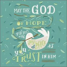 May The God Of Hope Greetings Card