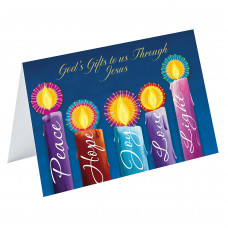 Christmas Cards Pack Of 10 God's Gift Blue