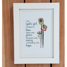 "God's Girl Framed Print 7"" x 5"""