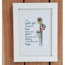 """God's Girl Framed Print 7"""" x 5"""""""