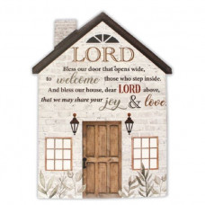 Lord Bless Our Door Plaque