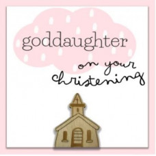 God Daughter Christening Card